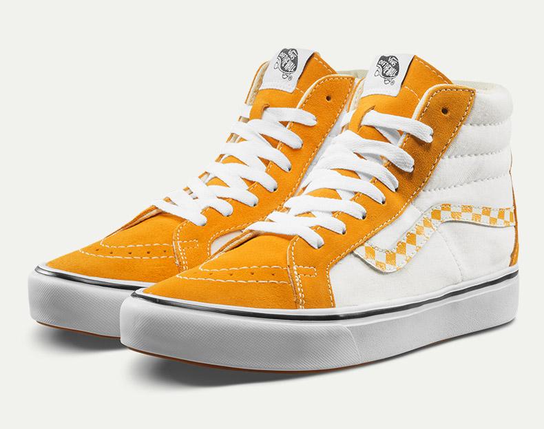范斯板鞋,可搭配vans时尚系带方法