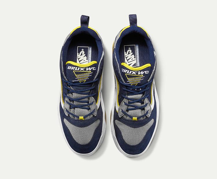 范斯BRUXWC男女同款运动鞋老爹鞋深蓝色