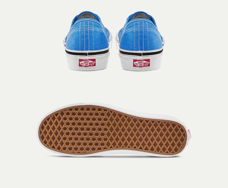 AUTHENTIC-44-DX海蓝色情侣款休闲鞋帆布鞋