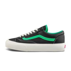 黑色/绿色