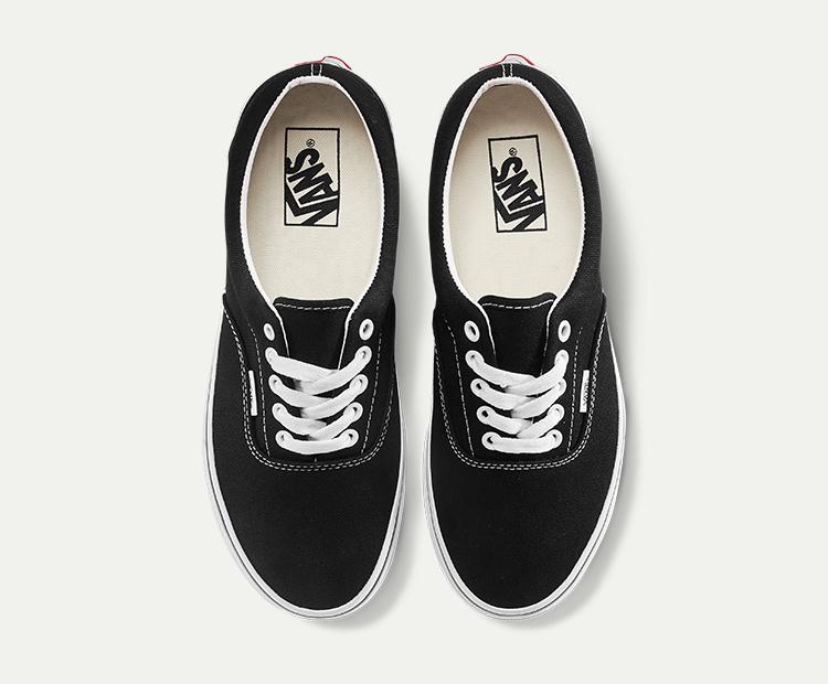 范斯Era男女同款帆布鞋板鞋黑色